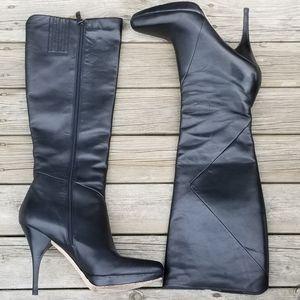 Via Spiga leather high heeled boots